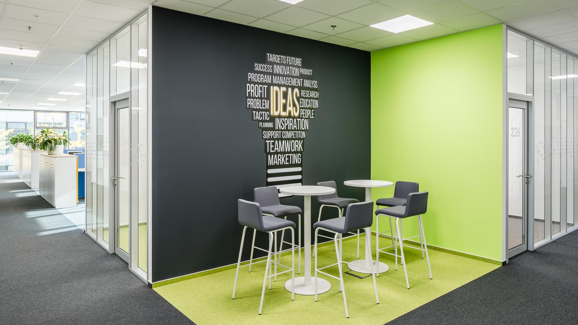 green-interior-wallpaper-on-the-wall-pole-wall-gray-bar-chair-CAPEXUS-office-design office-office CAPEXUS-IBM-IBM office